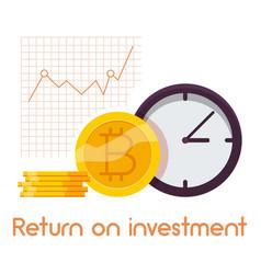 Return on investment icon cartoon style vector