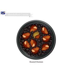 Roasting chestnuts vector