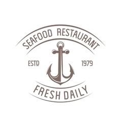 Seafood badge vector