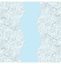 Seamless abstract curly floral pattern vector image