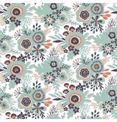 Seamless pattern with bouquets of flowers vector