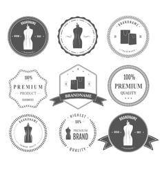 Set vintage retro mannequin shopping badges vector image vector image