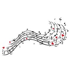 Song heart vector