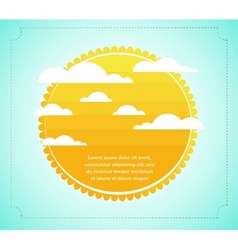 Sun with cloud infograhics vector image vector image