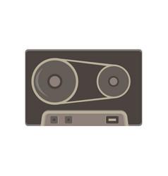 tape cassette vintage icon retro audio art icon vector image vector image