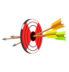 target with arrow vector image vector image
