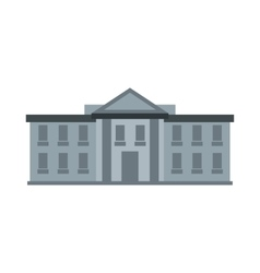 White House Washington DC icon vector image
