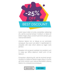 -25 off best discount website vector image vector image