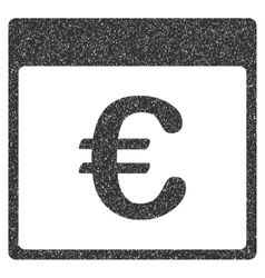 Euro currency calendar page grainy texture icon vector