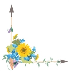 Flower arrangement with sunflowers kolokolchiklm vector