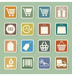 Shopping sticker icons set eps 10 vector
