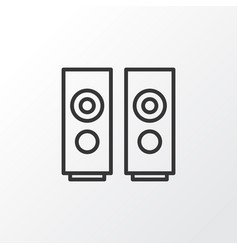 Loudspeakers icon symbol premium quality isolated vector