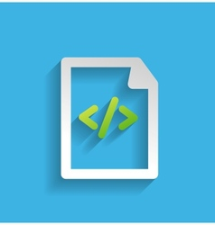 File  program flat icon vector