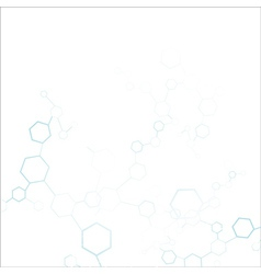 Abstract molecular structure background vector