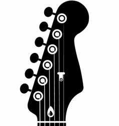 Guitar head vector
