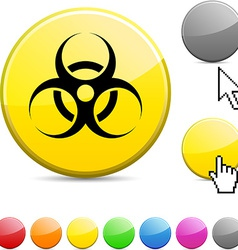 Virus glossy button vector