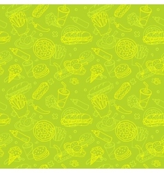 Fast food doodle seamless pattern vector