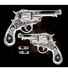 Vintage ornate pistol vector