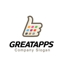 Great apps design vector