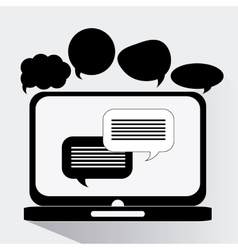 Communication and chat design vector
