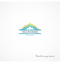 Bright picture of mountains like a journey vector