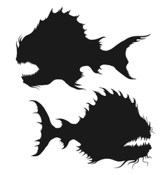 Sea monsters set vector
