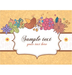 abstract frame with flowers vector image vector image