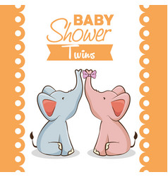 baby shower girl invitation card vector image