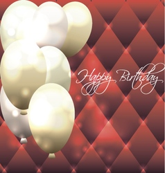 Beautiful card for birthday with red background vector
