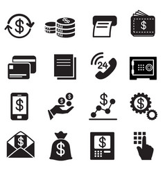 Business finance investment icons set vector