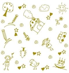 Childs happy doodle art vector image vector image