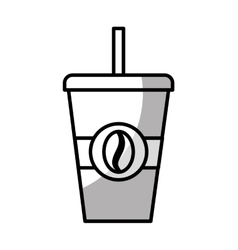 Coffee drink glass isolated icon vector