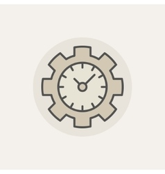 Colorful time management icon vector