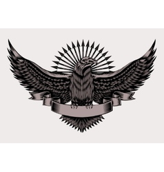 emblem with eagle vector image vector image