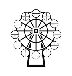 Ferris wheel black simple icon vector