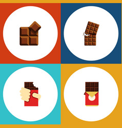 Flat icon chocolate set of chocolate bar shaped vector