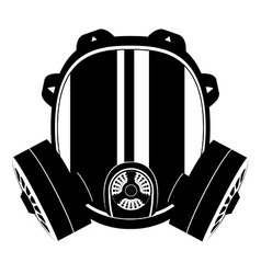 Gas mask black and white 01 vector