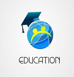 Global education logo company vector