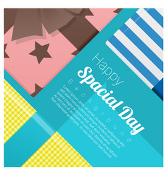 greeting card with gift boxes background vector image