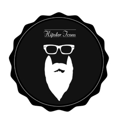 Isolated hipster label vector