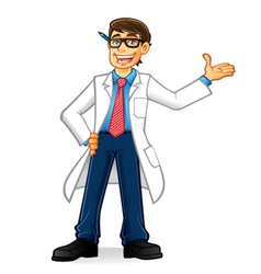 Lab Geek Man vector image vector image