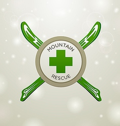 Logotype mountain rescue vector image