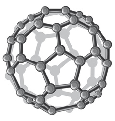 molecular structure of the C60 buckyball vector image vector image