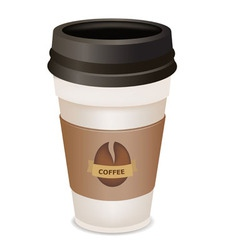 plastic coffee cup vector image