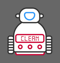 robot machine for cleaning isolated on grey vector image