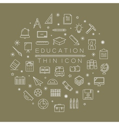 Set of education icons eps10 format vector image