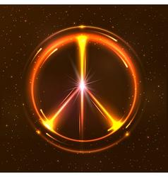 Shining pacific symbol vector image