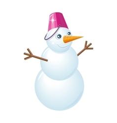 Snowman in flat design vector