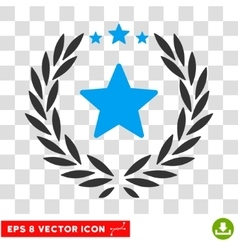 Starred Laurel Wreath Eps Icon vector image