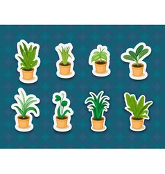 Sticker series of plants vector image vector image
